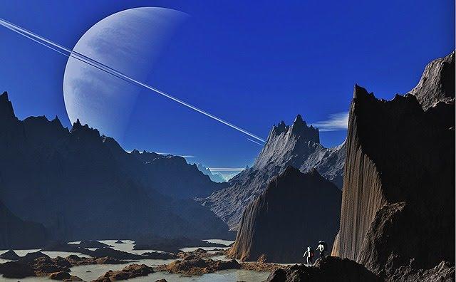 Reis door de ruimte