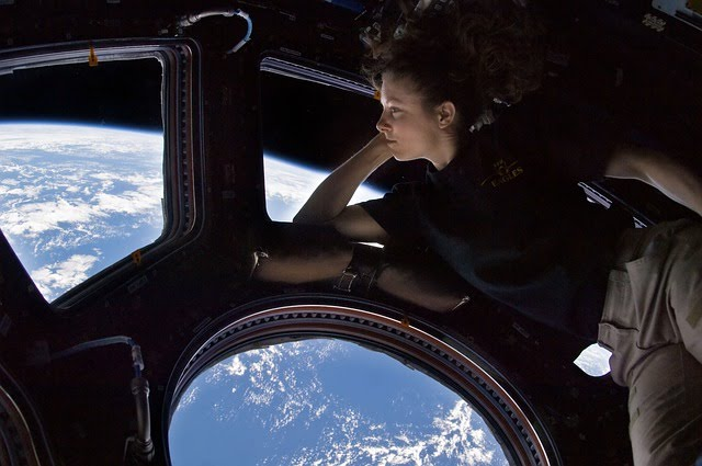Astronaut in Spacestation ISS